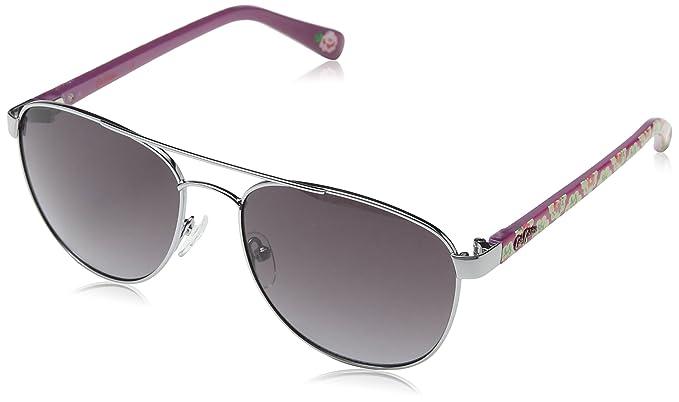 Cath Kidston Sunglasses Damen Sonnenbrille Ck700190056, Silber (Light Gunmetal), 56