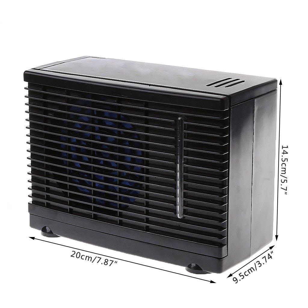Einstellbare 12 V Auto Klimaanlage K/ühler L/üfter Wasser Eisverdunstung