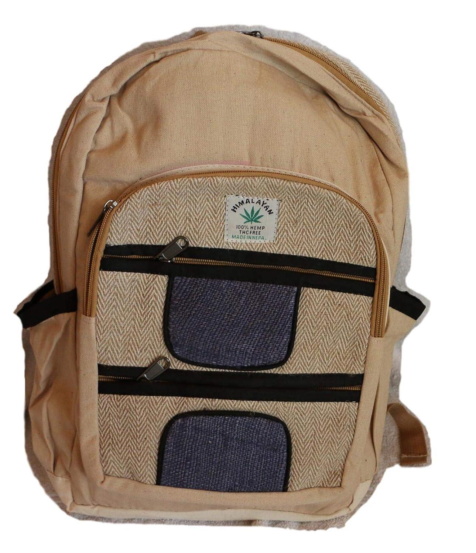 ... día de cáñamo/Mochila para la Escuela, Viajes, Ocio, Exterior - con Compartimiento para Laptop, Hecha a Mano en Nepal - Modelo 89: Amazon.es: Equipaje