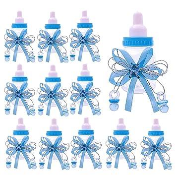 JZK 24 x Azul biberones favores Baby Shower Cajas Regalo ...