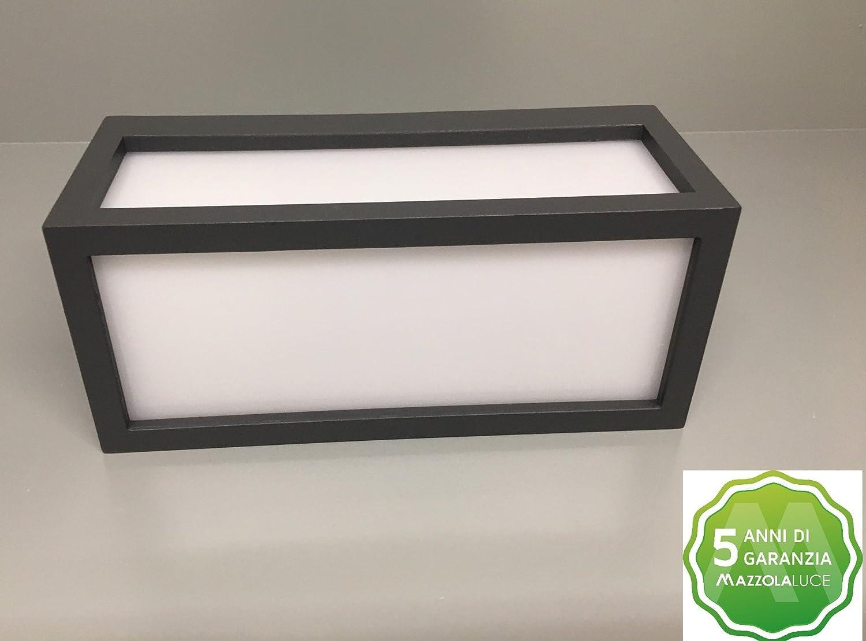 Applique lampada parete da esterno alluminio bianco ip54