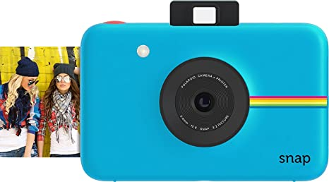 Polaroid Snap Instant Digital Camera (Blue) with ZINK Zero Ink Printing Technology Film Cameras at amazon