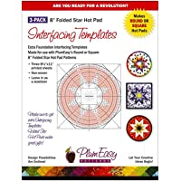"""8"""" Folded Star Hot Pad Interfacing Templates - 3-Pack Refill by Plum Easy Patterns (PEP-201)"""