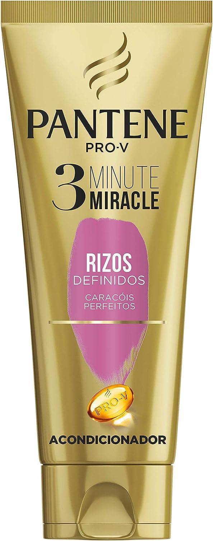 Pantene 3 Minute Miracle Rizos Definidos para Pelo Rizado - 6 Recipientes de 200 ml - Total: 1200 ml