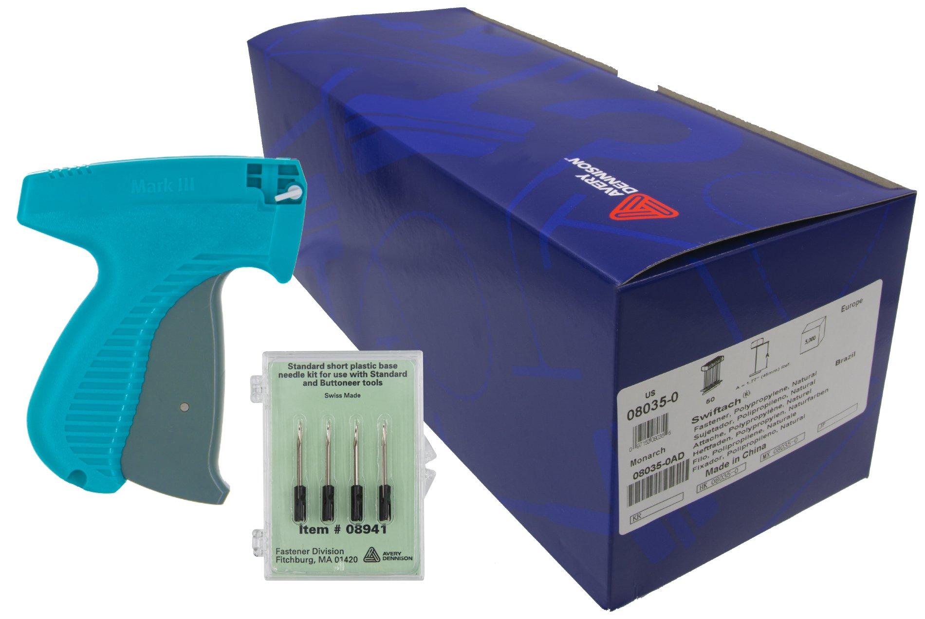 Avery Dennison Mark III Tagging Gun Kit - Includes Mark III 10651 Regular Tagging Gun, 5.000 2'' Avery Dennison Fasteners / Barbs & 4 Avery Dennison Replacement Needles – ALL GENUINE AVERY DENNISON