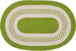 product image for Colonial Mills Floor Decorative Crescent - Bright Green 10'x13' Oval Rug