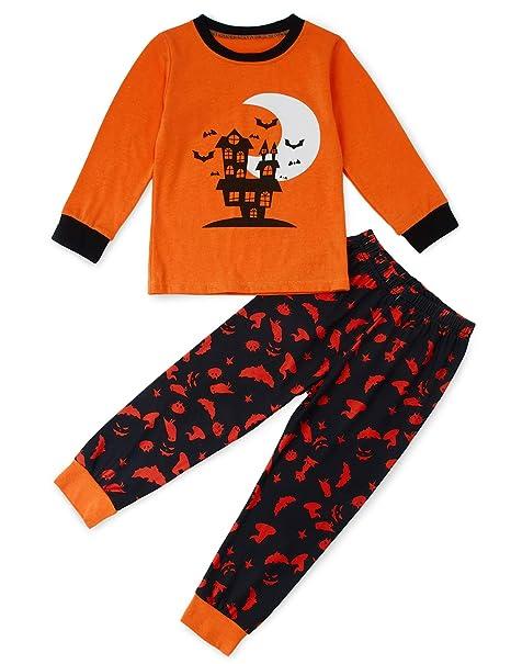 64d7eccd8 Amazon.com  Loveternal Boys Halloween Pajamas Set Kid Cotton Long ...