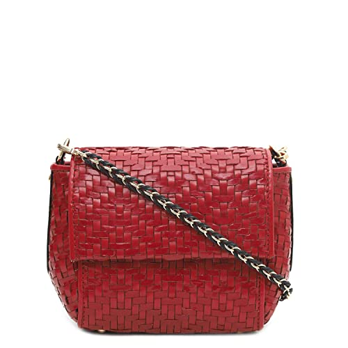 5d3369ba8e0 Da Milano LB-4294 Red Genuine Leather Sling Bag  Amazon.in  Shoes ...