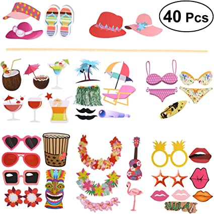 Amosfun 20PCS Fiesta Photo Props Novelty Creative Mexican Party Favors for Party