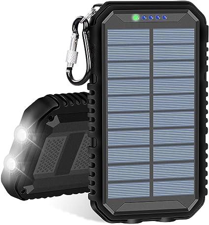 Amazon.com: IXNINE - Cargador solar portátil de 15000 mAh ...