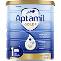 Aptamil Gold+ 1 Baby Infant Formula From Birth to 6 Months, 900 g, No Flavor Available