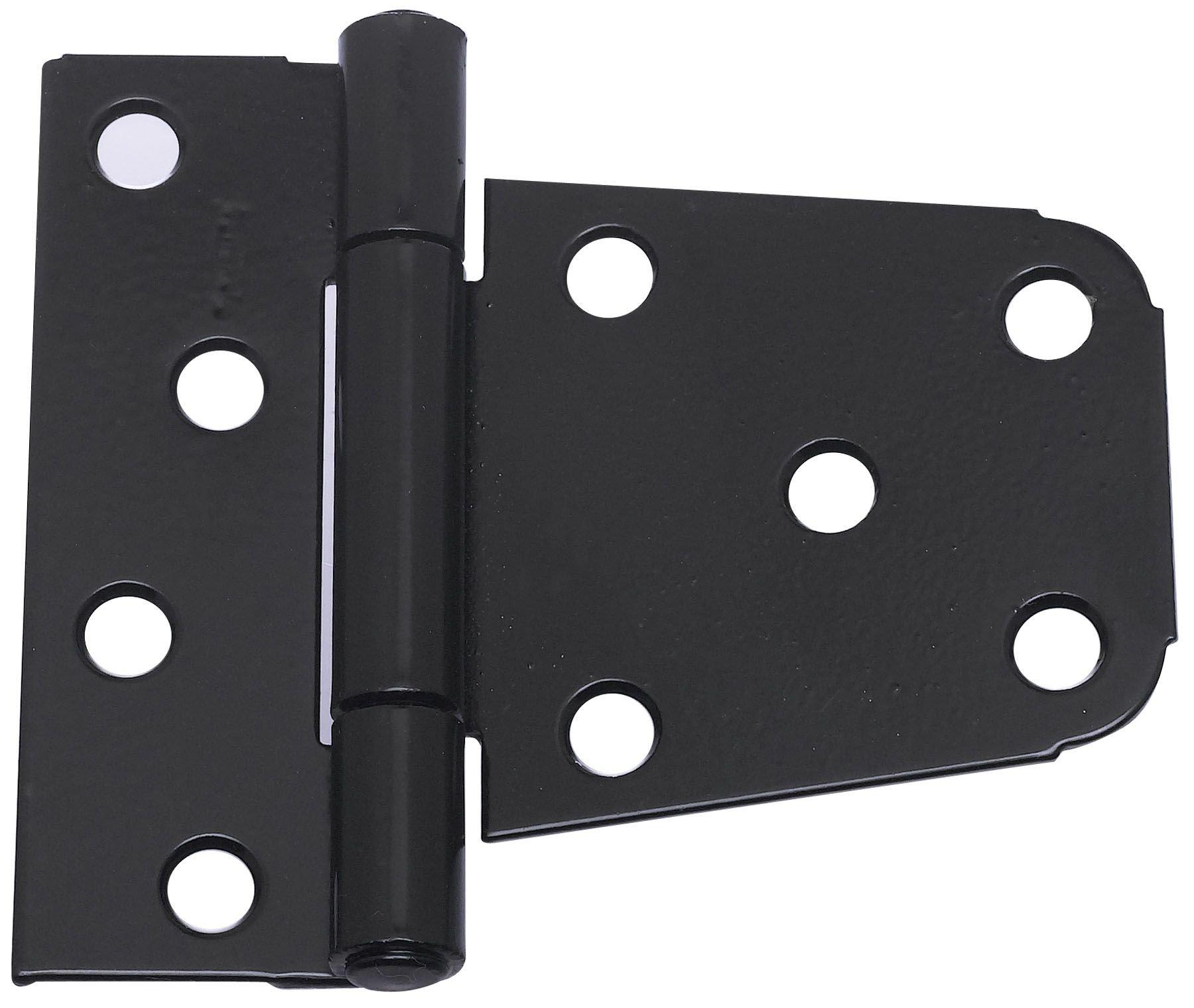 National Hardware N220-129 V287 Extra Heavy Gate Hinges in Black, 2 pack