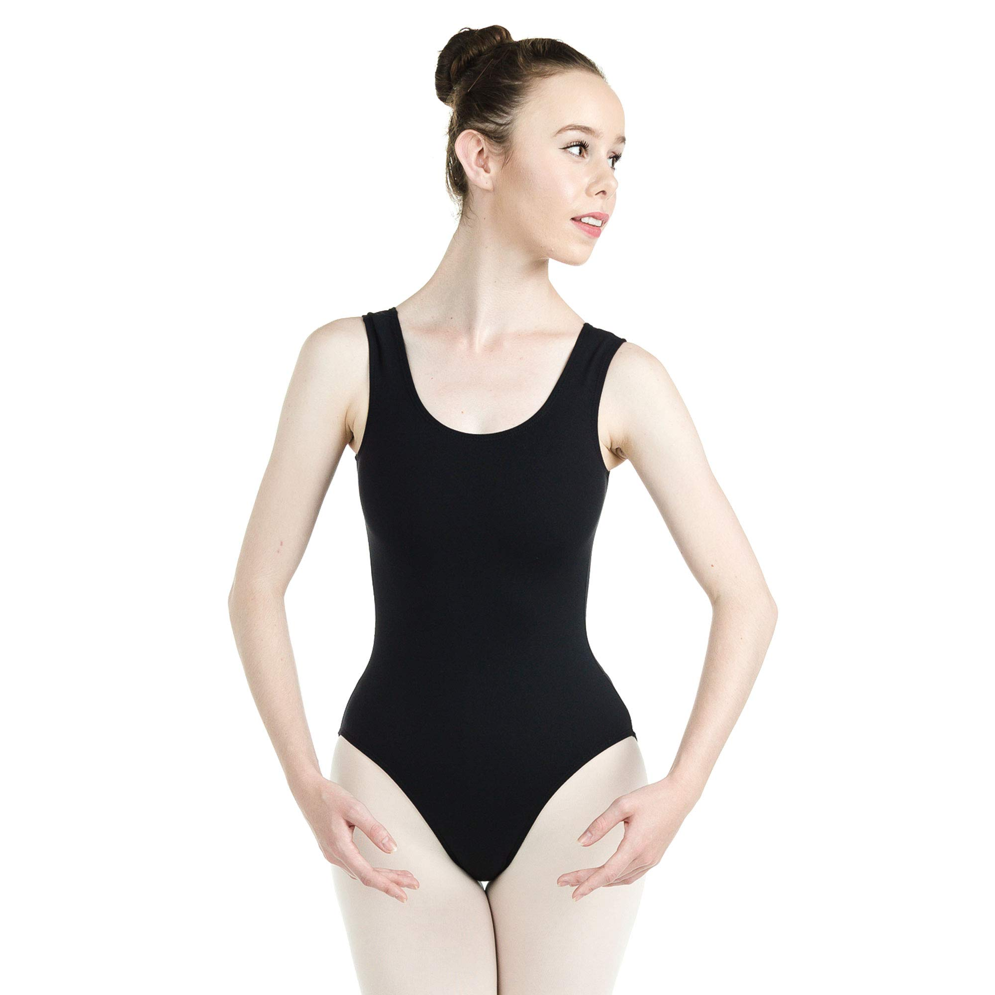 b4db947be12b Danzcue Womens Cotton Tank Ballet Cut Leotard