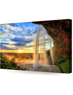 decorarts the waterfall in giclee print on canvas wall art for home decor