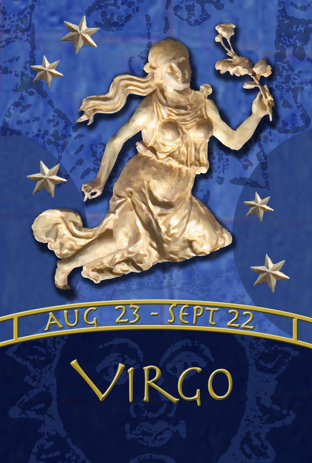 """Toland Home Garden Zodiac Virgo, Garden Flag (12.5"""" x 18"""")"""