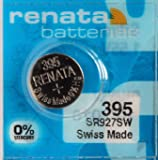 Renata Batteries 395 / SR927SW Button Cell, Swiss Made (Set of 2 Pcs)