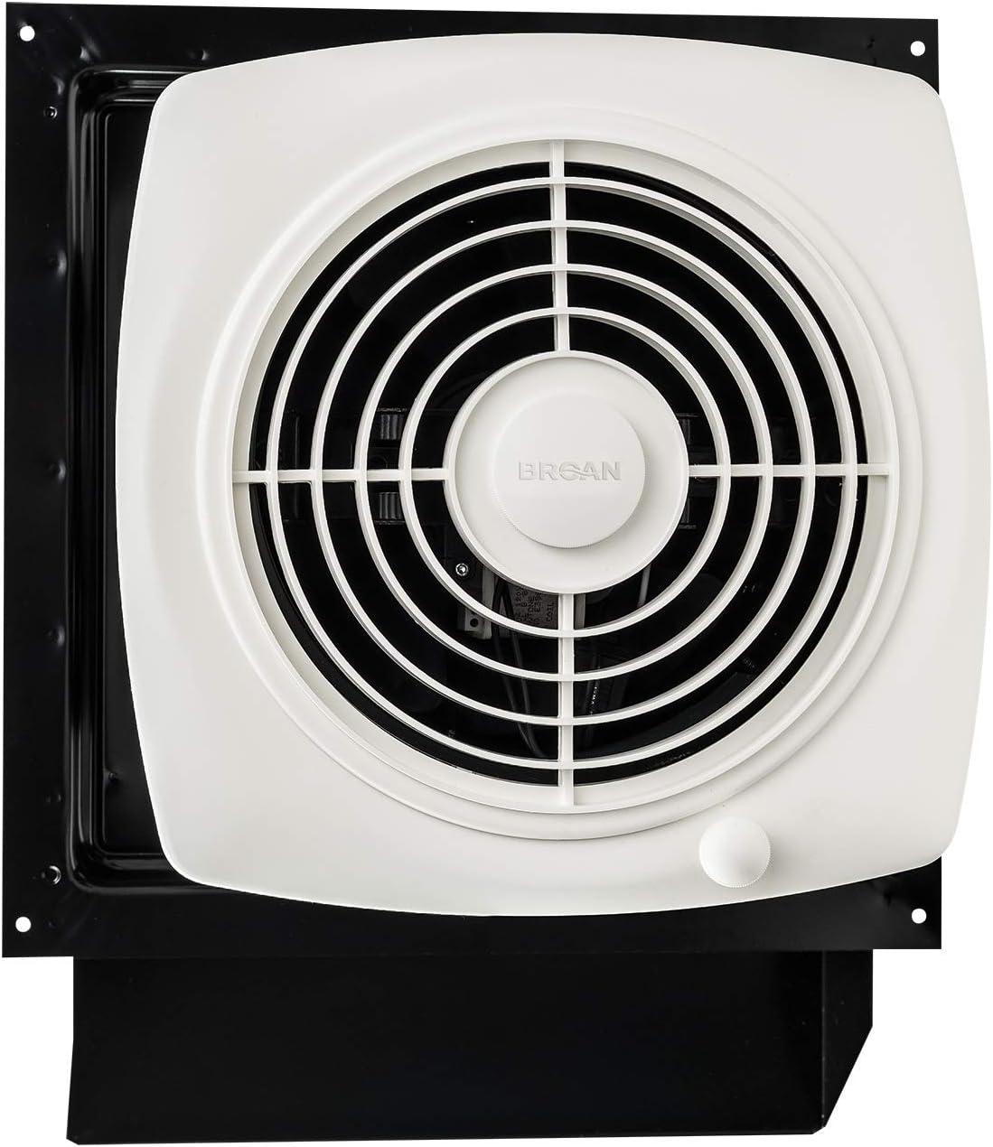 Broan Nutone 509s Through The Wall Ventilation Fan White Square Exhaust Fan 6 5 Sones 180 Cfm 8 Bathroom Fans Amazon Com