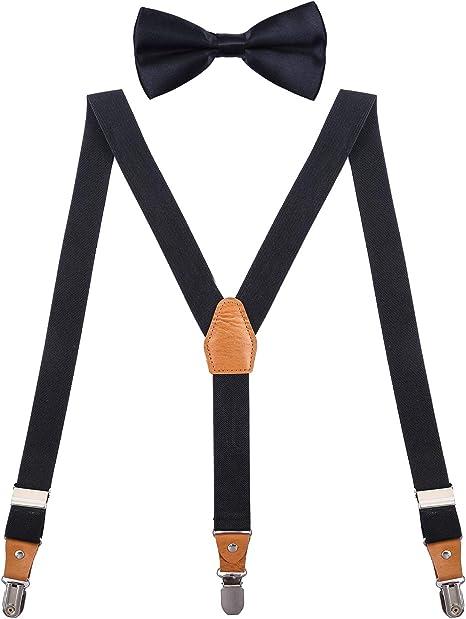 BABY BOY KIDS White Braces Suspenders Sheet Music Notes Bowtie Bow Tie