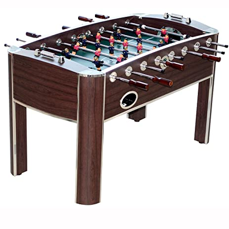 MD Sports Barrington 58u0026quot; Wooden Home Gameroom Foosball Table With  Accessories