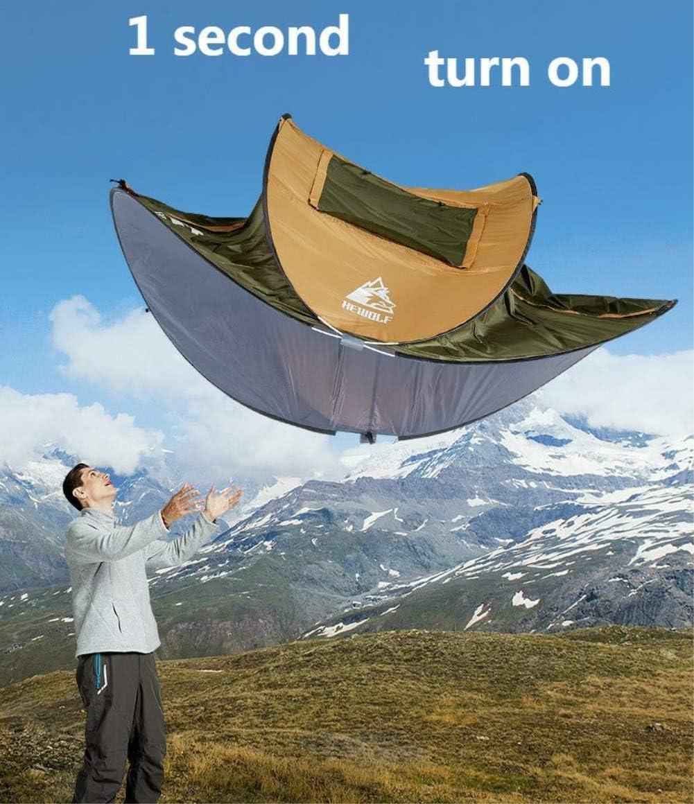 HEWOLF Outdoor 4-5 Personen vollautomatisch doppelt regensicher 2-3 Personen Free Aufbau Zelt Wild Speed Open Zelt Camping Sonnenschutz Camping Zelt