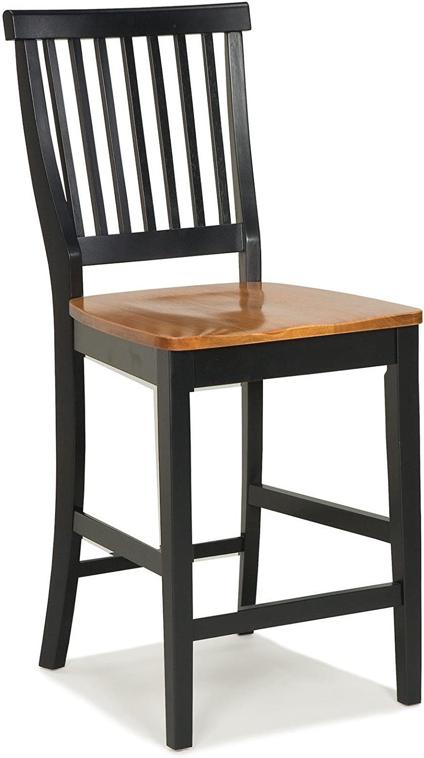 B002QXELWC Home Styles Wood Counter Stool with Slat Backs and Black and Rich Oak Seat Finish 71w7cBW9isL