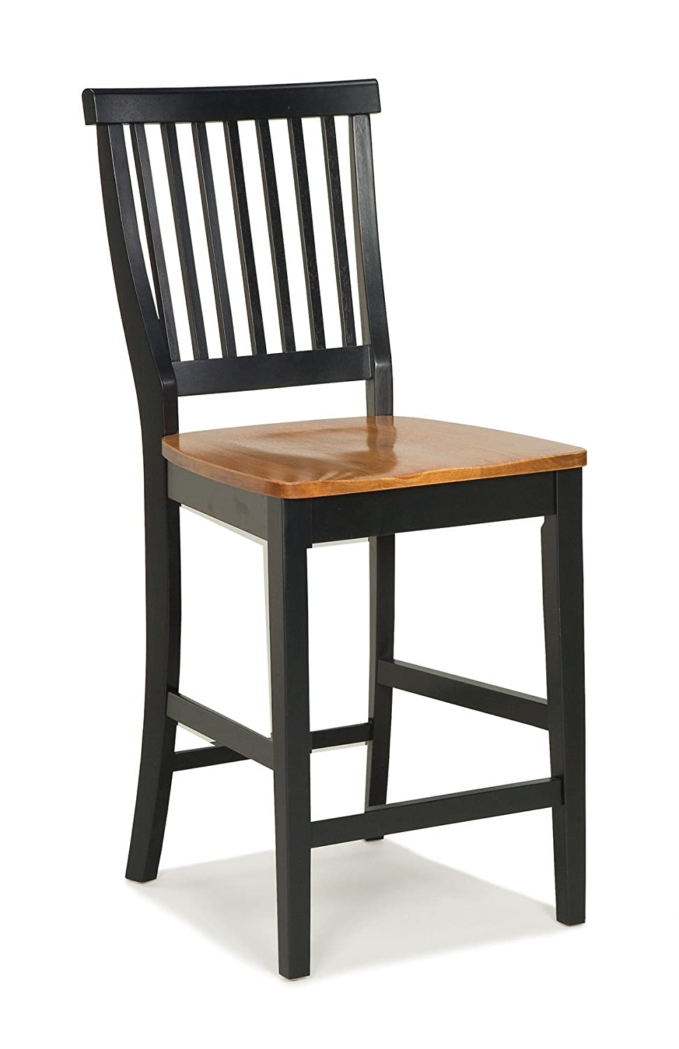 Americana Black Distressed Oak bar Stool by Home Styles