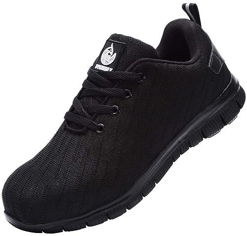 DYKHMILY Chaussures de sécurité Homme Femme Embout Acier Respirant Chaussures de Travail Anti Perforation
