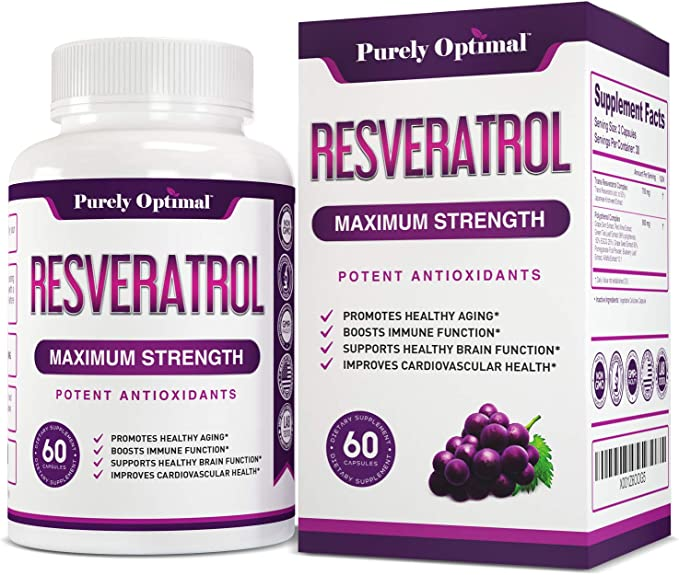 Amazon Com Premium Resveratrol Supplement 1500mg Max Strength Potent Antioxidant Trans Resveratrol Capsules For Heart Health Anti Aging Immune Health With Grape Seed Green Tea Extract 30 Days Supply Health