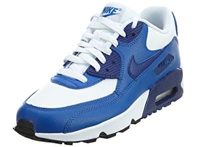 low priced 0a964 6e22d Nike Air Max 90 Leather (GS) Schuhe white-deep royal blue-gym