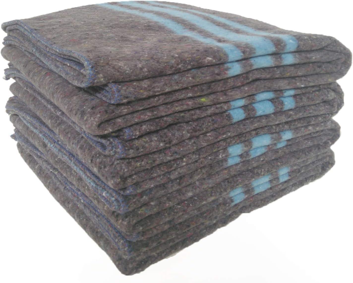 pack 4 mantas Mantas Mudanzas 140x200 gruesas Fabricadas en Espa/ña azul Sanz Marti