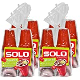 SOLO Cup Company Red Squared Plastic Party s, 18 Ounce, 200 Count