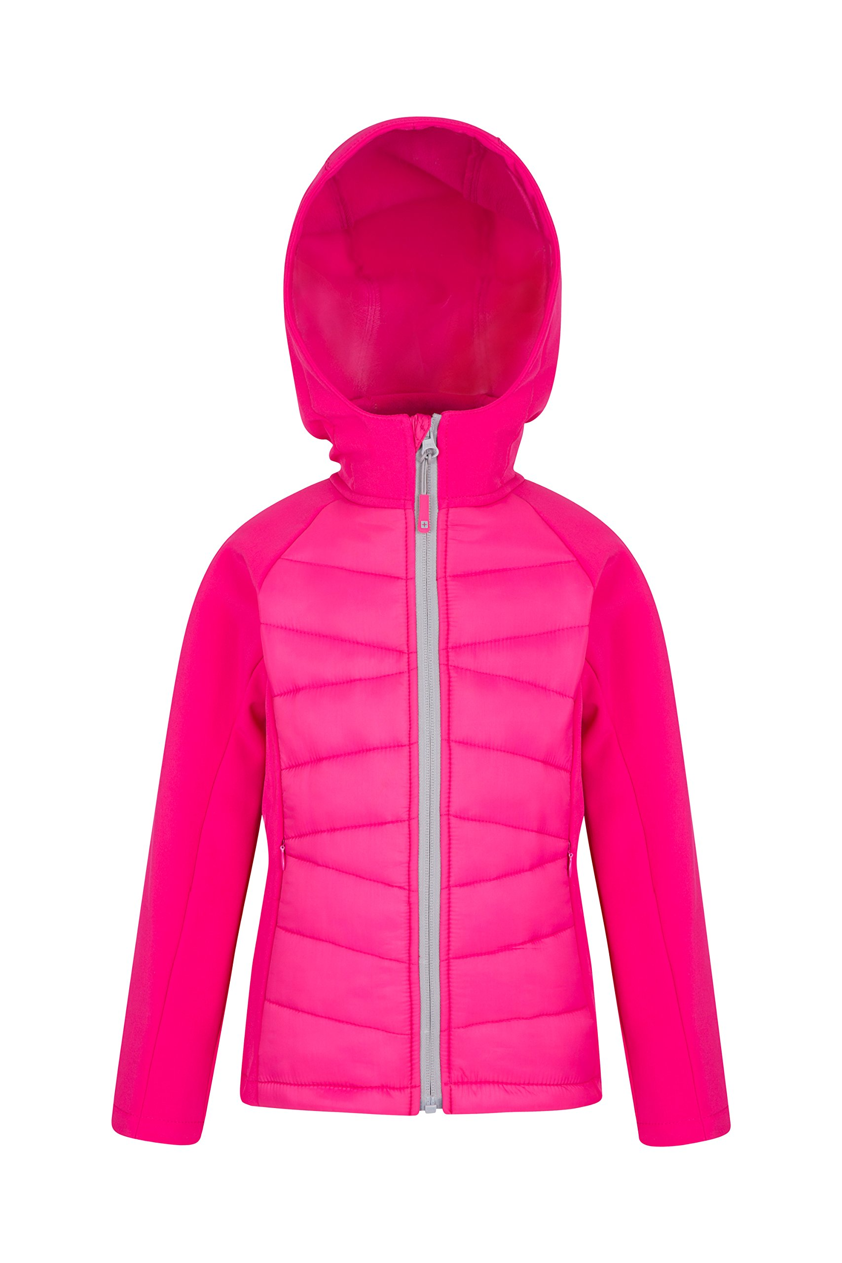 Mountain Warehouse Flexy Kids Padded Jacket - Childrens Summer Coat Pink 7-8 Years