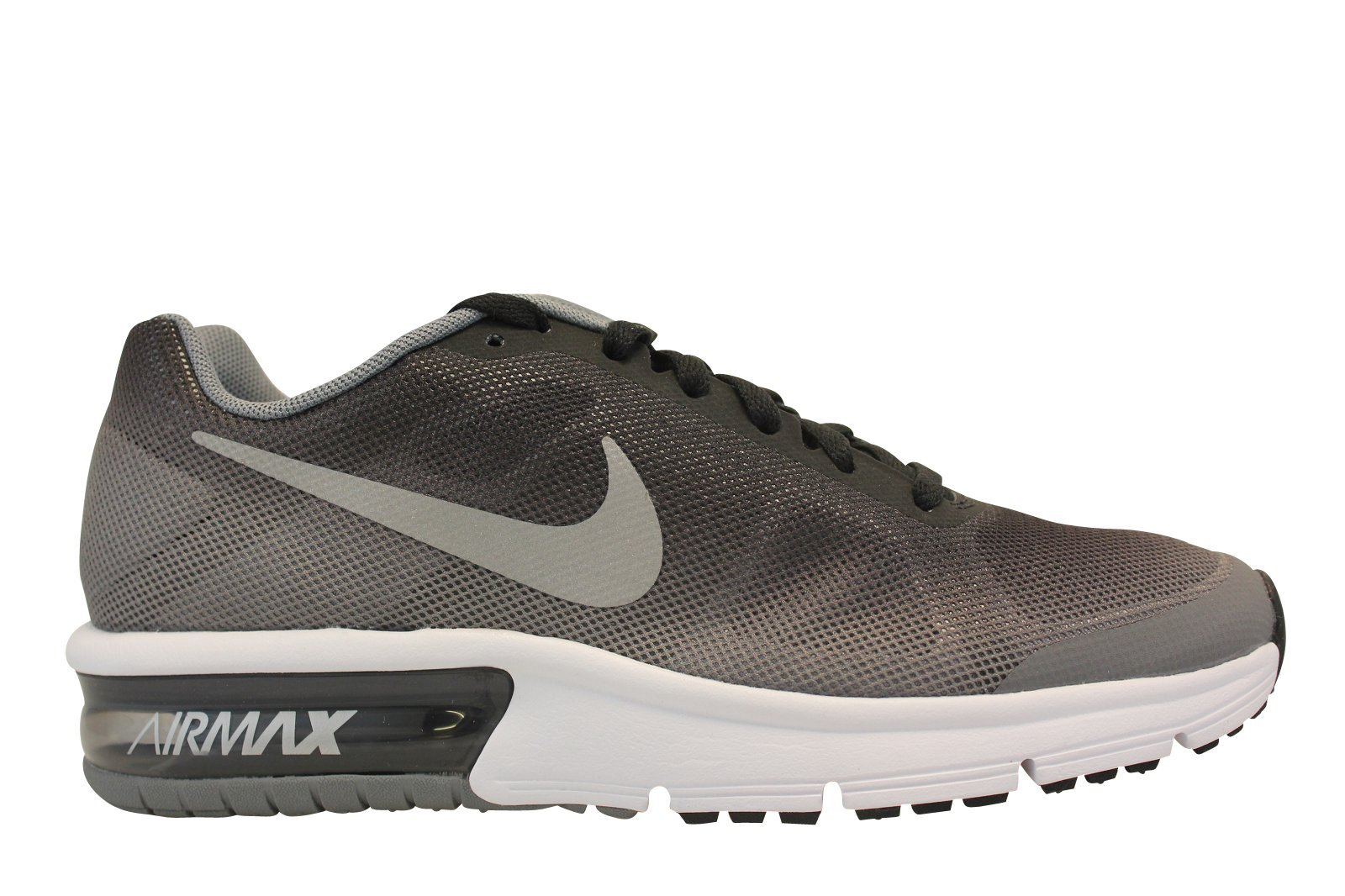reputable site 05d51 d6355 Galleon - Nike Kids Air Max Sequent (GS) Black Metallic Siver Wolf Grey White  Running Shoe 5 Kids US