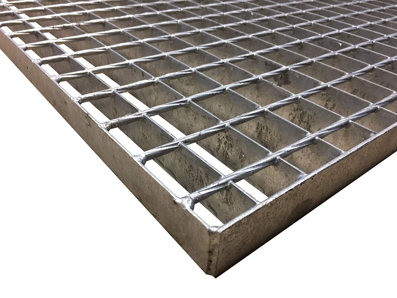 Gitterroststufe XSL Stahlstufe 1000x270 mm 30//30 mm R11 Treppenstufe Stiege