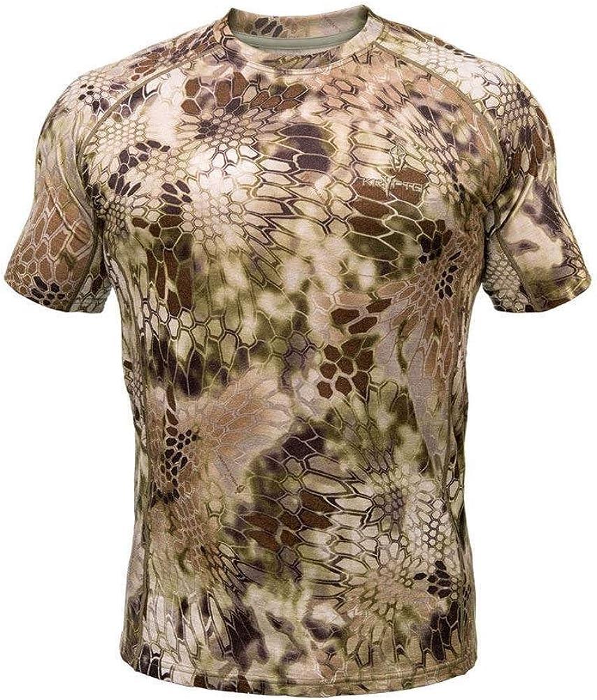 Kryptek Men's Hoplite Merino Wool Lightweight Short Sleeve Camo Highlander T-Shirt