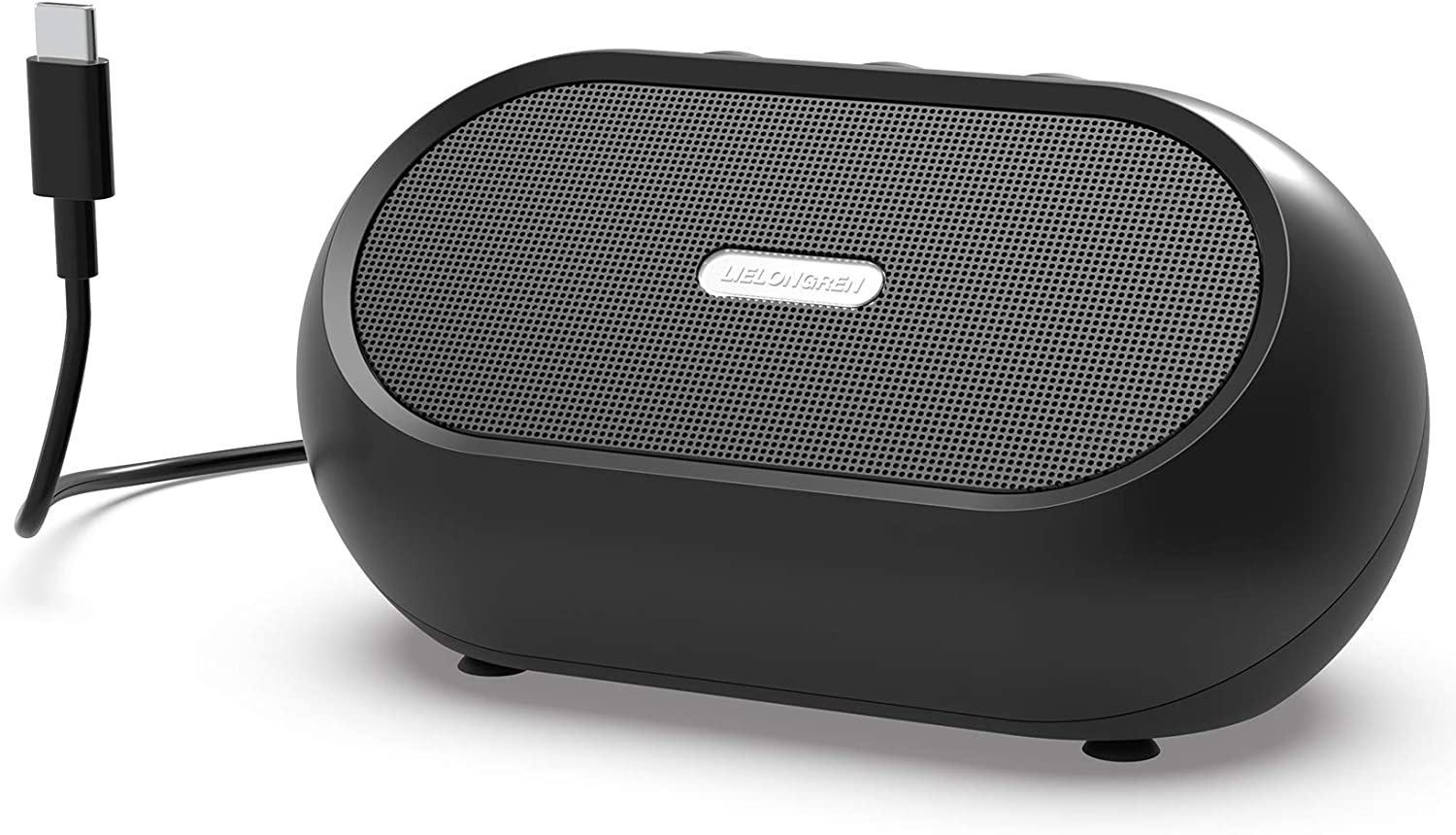 USB-C Computer Speaker, Laptop Speaker, PC Speaker for Windows Laptops, MacBook, Chromebook, Compact Size with 8W Loud Volume, Rich Bass and Hi-Quality Sound - USB Type A to C Converter Included