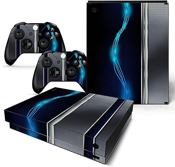 46 North Design Xbox One X Pegatinas De La Consola Blue Silver ...