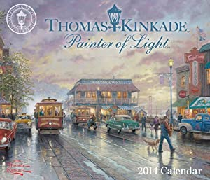 2014 Thomas Kinkade Painter of Light 365 Page Page-A-Day / Daily Boxed/ Daily Desk Calendar
