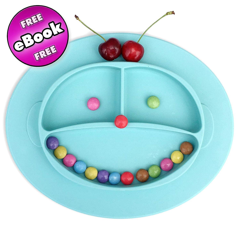 Babylovit♥ Rutschfester Silikonteller Schale Platzdeckchen Tischset Kinderteller BPA-frei und FBA -Zugelassen