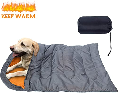 KUDES Dog Sleeping Bag Waterproof Warm Packable Dog Bed with Storage Bag for Indoor Outdoor Travel Camping Hiking Backpacking 43 Lx27 W