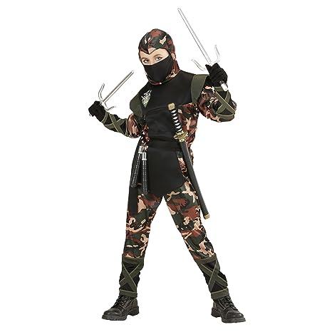 Amazon.com: Disfraz infantil de ninja soldado medio 8 – 10 ...