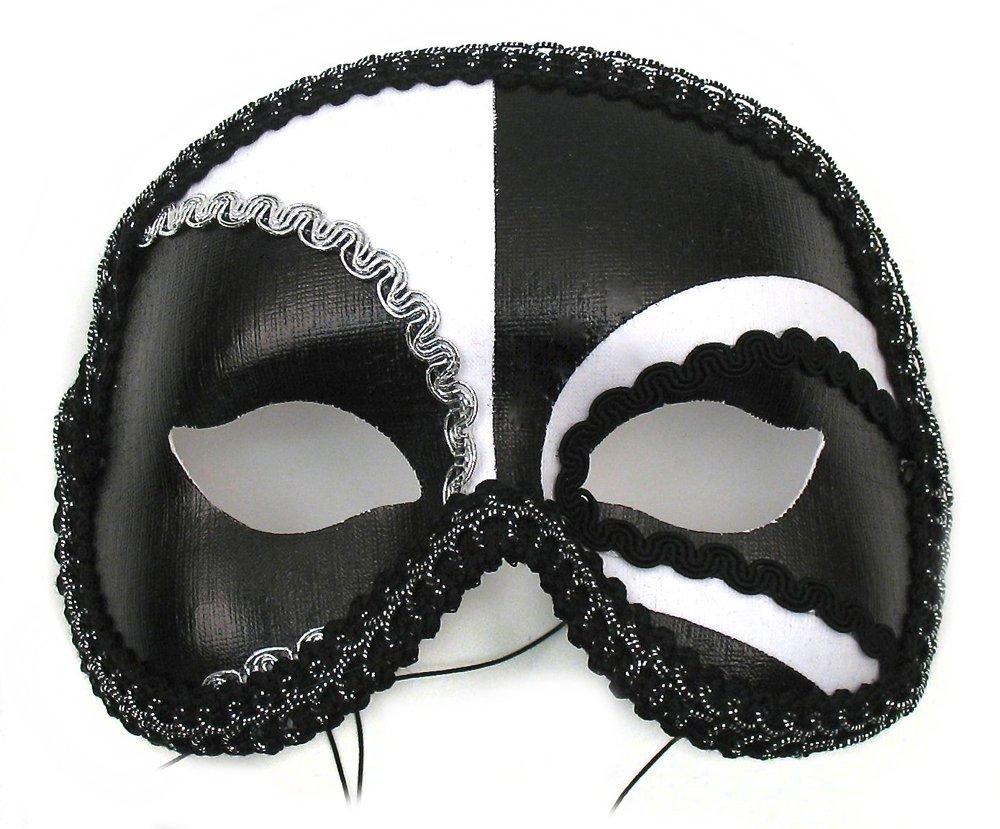 Antonio Black White Men's Masquerade Mask