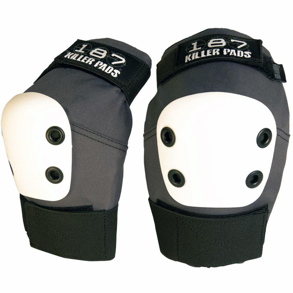 187 Killer Pro Elbowパッド – グレーW /ホワイトキャップ B01N39GT8Y Small|グレー グレー Small