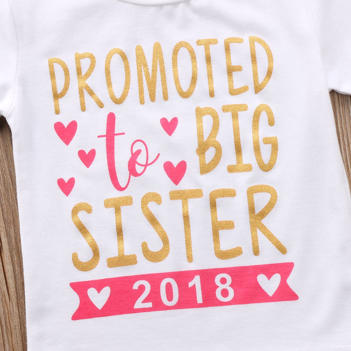 Gaono 2019 Baby Girl Clothes Outfit Big Sister Letter Print T-Shirt Top Blouse Shirts