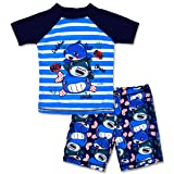 Boys Two Piece Rash Guard Swimsuits Kids Short