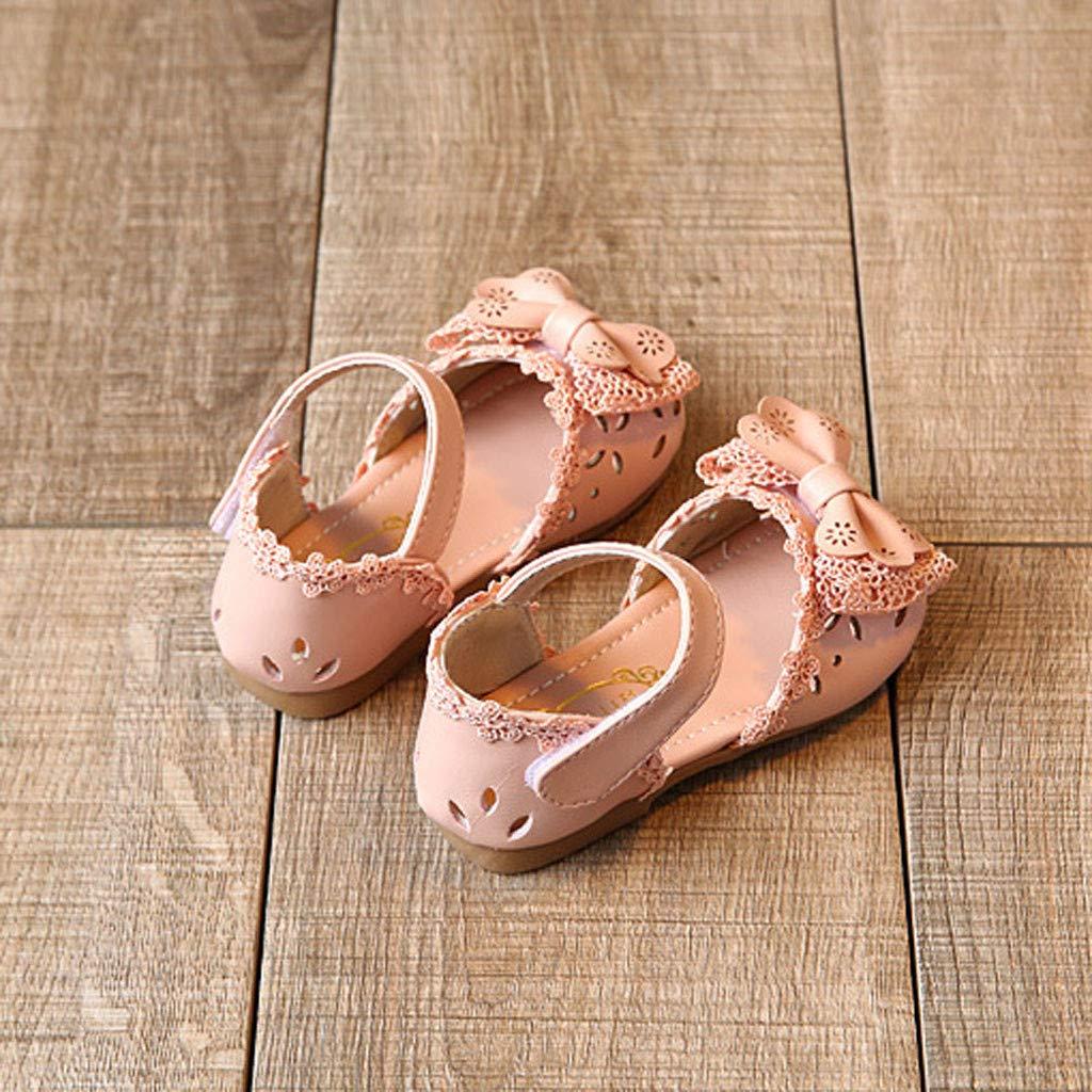 ❤️ Sunbona Toddler Infant Kids Baby Girls Hollow Sandals Elegant Bowknot Flower Princess Flat Heel Flip Flops Beach Shoes