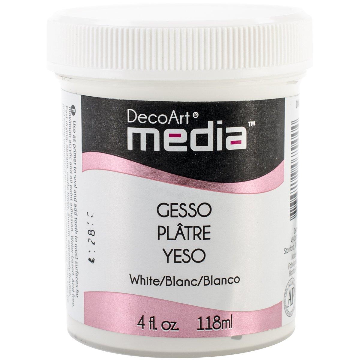Deco Art White 4-Ounce Media Gesso 4oz DMM18