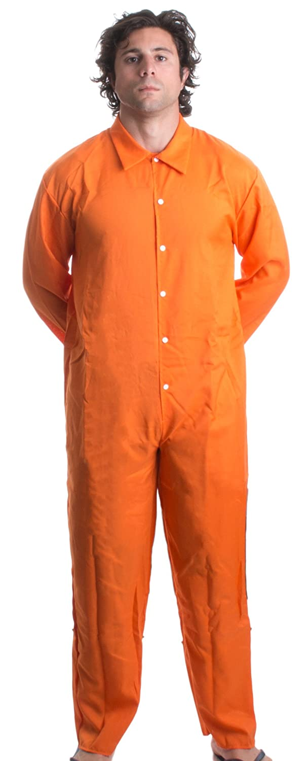 Ann Arbor T-shirt Co. Prisoner Jumpsuit | Orange Prison Inmate Halloween Costume Unisex Jail Criminal 0-fba_prisonjump-man
