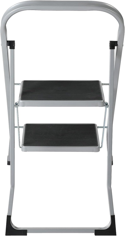 pelda/ños antideslizantes carga m/áx Escabel dom/éstico 150 kg Escalera plegable con 2 pelda/ños axentia Taburete escalera Escalerilla multiusos