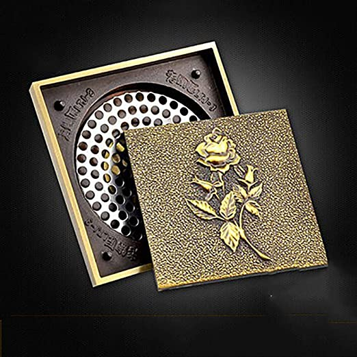 Lidina Shower Floor Drain Cover Square Bathroom Floor Drain Dual Use Filter Shower Removable Cover Brass Bathroom Shower Room Toilet Laundry Room Garden Outdoor Amazon Ca Home Kitchen